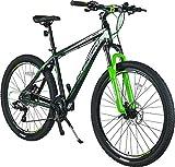 KRON XC-150 High-Class Aluminium Mountainbike 27.5 Zoll | 24 Gang Shimano Kettenschaltung, Hydraulische Shimano Scheibenbremse, Lockout Gabel | 18 Zoll Rahmen | Schwarz & Grün