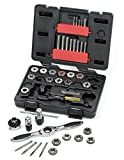 Gearwrench 3886 40 Piece Ratcheting Tap and die set metrico in custodia