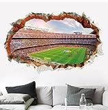 Hemore Sticker Murales Football Amovibles Décor pour Salon, Chambre à Coucher,...