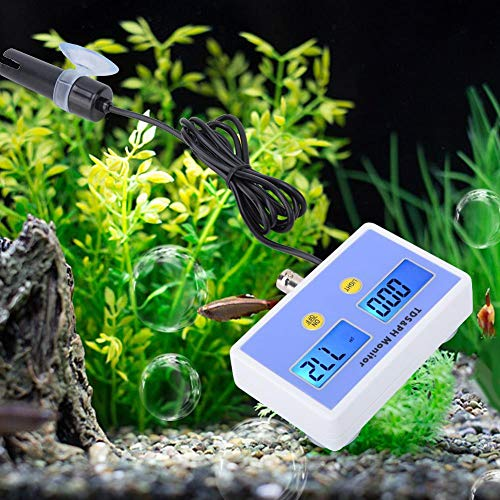 Digitales PH-Meter, hochpräzises wasserdichtes TDS PH 2-in-1-Monitor-Aquarium-Wasserqualitätsprüfgerät für die Aquarienwassermessung(EU) -