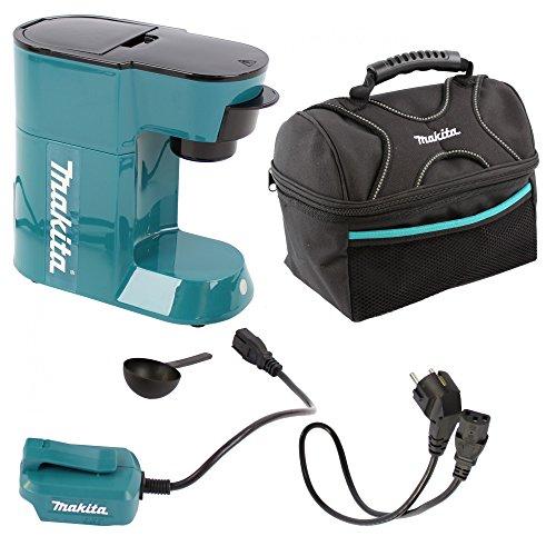 Preisvergleich Produktbild Makita DCM500Z Akku-Kaffeemaschine 18V, alternativ Netzbetrieb möglich + Makita Lunch-Tasche