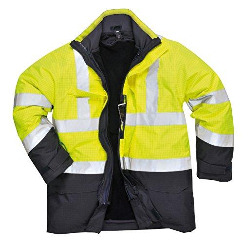PORTWEST S779 - Bizflame Regen Warnschutz Multi-Norm Jacke, 1 Stück, XXL, orange, S779ONRXXL gelb