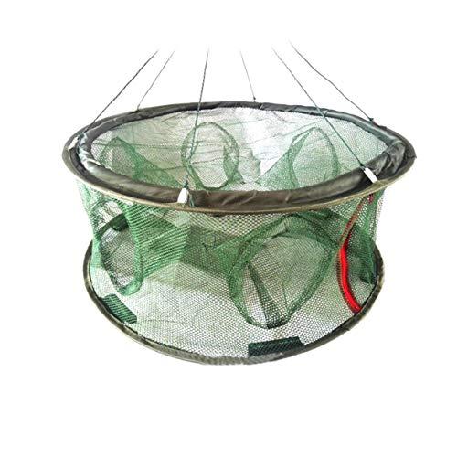 Tragbares Klappfischernetz Langusten Netzfischkorb Casting Shrimp Cage Multifunktionale Elritze Lobster Crab Fish Trap Cages -