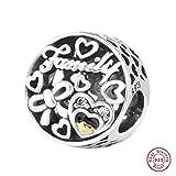 MOCCI 2017 Nouvelle famille d'automne Tribute Ajouré Perles DIY Convient pour Original Pandora Bracelets Charme Faire des Bijoux