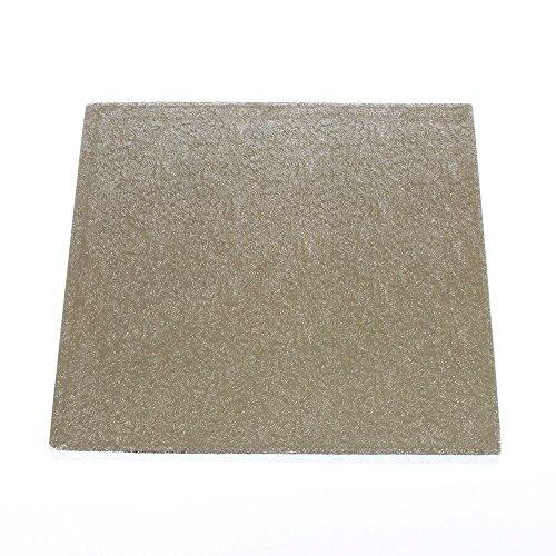 35,6 cm carré argent gâteau planches 12 mm d'épaisseur