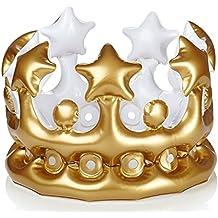 NPW W13634 Aufblasbarer Krone Foto Booth Selfie Prop - König für den Tag Kostüm, One Size