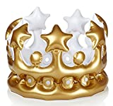 NPW Inflatable Crown Photo Booth Selfie Prop - King For The Day Fancy Dress