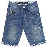 BEZLIT Jungen Kurze Hose Shorts Bermuda Cargo Kinder Capri Vintage Jeans Strech 21361 Blau Größe 116