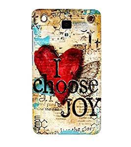 Omnam I Choose Joy Desinger Background Printed Back Cover Case For Xiomi 4
