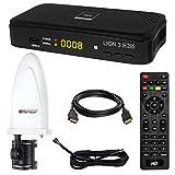 HB Digital DVB-T/T2 Set: Opticum Lion 3 HD H.265 HEVC DVB-T/T2 Receiver + Opticum Optima HD750 DVB-T/T2, FM, DAB Aktive Antenne (Full HD, HEVC/H.265, HDTV, HDMI, USB 2.0 DVBT DVBT2 DVB-T2)