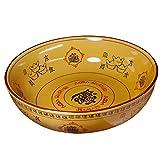 Chinesisches Artgeschirr der großen Schüssel der Keramikschüssel große Kreative Retro- Salatschüssel schöne Handgemachte Geschirrorange
