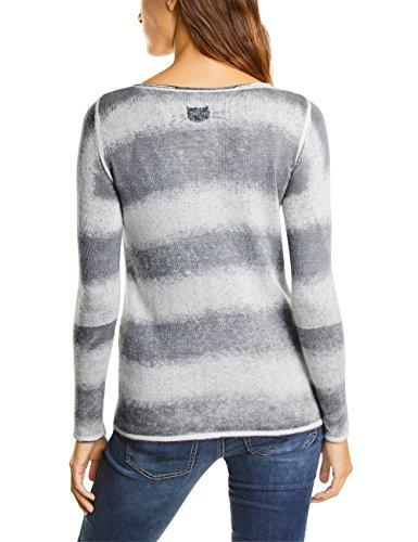 af1824118136d6 Street One Damen Pullover Grau Cyber Grey Melange 20767 ...