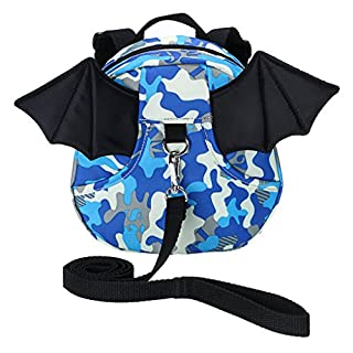 IGNPION Toddle Reins Backpack Child Kids Safety Walking Harness Strap Bag (Blue)