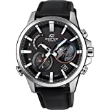 Casio Herren Chronograph Solar Uhr mit Leder Armband EQB-600L-1AER