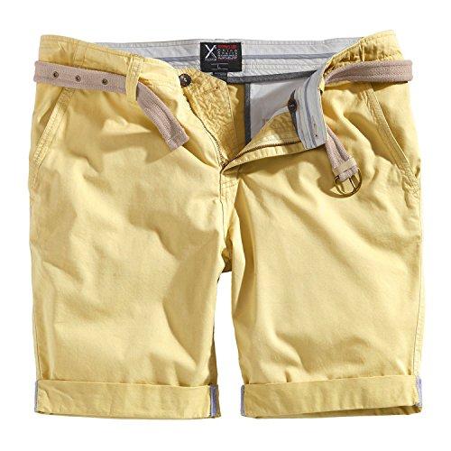 Trooper Herren Chino Shorts Bermuda Kurze Hose, Beige, Größe L
