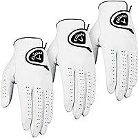 Callaway Golf 2014 Mens Dawn Patrol Leather Golf Glove LH (3 Pack) - White - ML