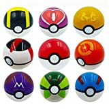 LSXSZZ8 9pcs Different Style Ball Pokemon Master Great Ultra GS Pokeballs + 24pcs Action Figures Cosplay Pop-up BALL Kid Toys Plastic Super Anime pikachu Pokeball Figure Variable bouncing child