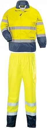 Unisexe Ruban R/éfl/échissant L/éger V/êtements Travail S/écurit/é en Plein Air Combinaison Pluie S/écurit/é Imperm/éable /à Capuche Orange,M DZKU Haute Visibilit/é PVC Polyester