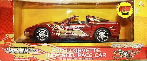 American Muscle 2003 Corvette indy 500 Pace Car 1:18 Scale Die Cast Metal Car by Ertl (Car Diecast Indy)
