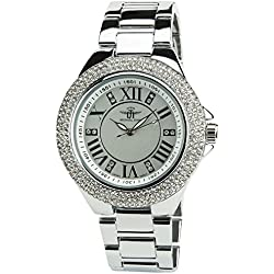 Women's Watch MICHAEL JOHN Silver Quartz Steel Case Analogue Display Steel Band Silver