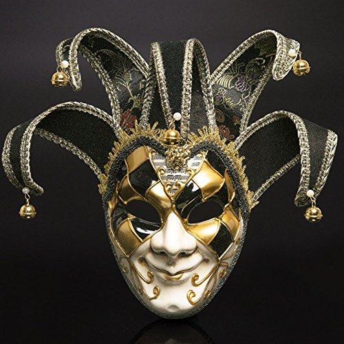 enezianischen Masken Masquerade Maske Halloween Kostüm Ball Party Kleid Dekoration Supplies Maske mit Persönlichkeit Schwarz (Griechische Masken Und Kostüme)