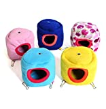 Da.Wa 1 PCS Cute Hamster Winter Warm Cotton Hammock Toy Pet Rat Hamster Bed Small Animal Cage (Random Color)
