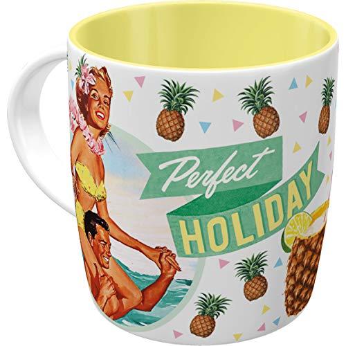 Nostalgic-Art 43020 Say it 50's - Holiday | Retro Tasse mit Sprüchen | Kaffee-Becher | Geschenk-Tasse | Vintage