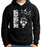 35mm - Sudadera Con Capucha - Notorious Big - Hip Hop - Rap - Hoodie, NEGRA, L