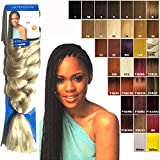 "IMPRESSION SUPER BRAID HAIR EXTENSIONS 86"" (WEIGHT 175gm) COLOUR~4(med brown)"