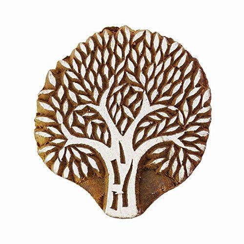 Baum Blockdruck Holzschnitt Stempel braune Keramik Briefmarken Dekorationsblöcke Kunst (Block Der Kunst Drucken Muster)