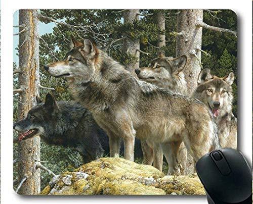 Yanteng Mousemat, Tierwaldwolf Gaming Mauspads (Mehrfarbig)