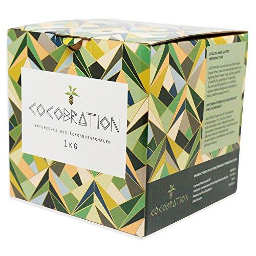Cocobration 1Kg   Premium Shisha Kohle   100% Kokosnuss   für Shisha & Grill