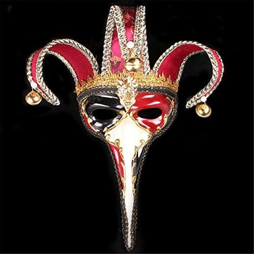 kreative Weihnachten Make-up kleine Lange Nase, gemalt hohen schrulligen Wangenschleier Red ()