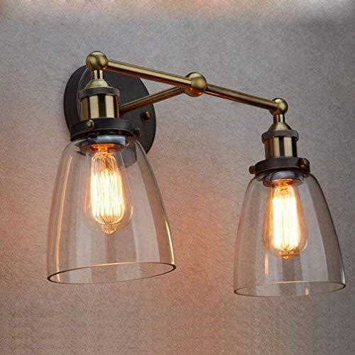 Deco Cfl (Warm Wandleuchten Antique Deco 2-Flames Wandleuchten Glass Industrial Lamp Bracket Einstellbare Retro Fixture E27 Beleuchtung Für Nachttischlampe Flur Balkon Bar Beleuchten Sie Ihr Zuhause)
