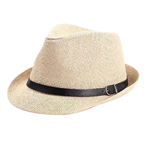 JIAJIA - Chapeau fedora - Uni - Homme Cream-coloured