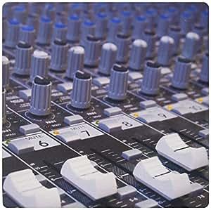 3dRose 8 x 8 x 0,6 cm-Mitigeur Mélangeur Audio d'ingénieur boutons de placard coulissant pour l'enregistrement en Studio-Tapis de souris (mp_155066_1)