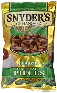 Snyders Jalapeno Pretzel Pieces 63.8 g (Pack of 6)