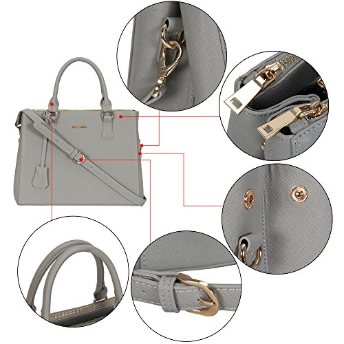 Veevan Damen Elegant Handtaschen Dunkelblau Grau