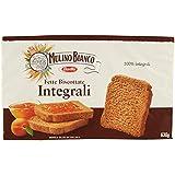 Mulino Bianco Fette Biscottate Integrali, Colazione Ricca di Fibre e Gusto - 630 gr