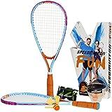 Speedminton Fun set, Blau/Orange/Lila, 400050