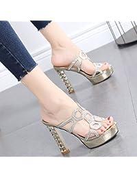 GTVERNH Scarpe da donna/scarpe estive/Freddo Il Rimorchio Spesso Fondo Impermeabile Piattaforma Torta Spugnosa China…
