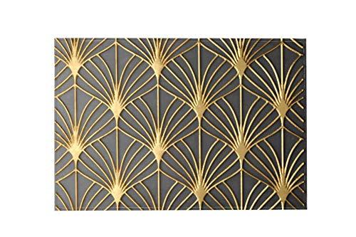 Desheze Moderne, rutschfeste Fußmatten für Zuhause, Büro, Auto, Haustiere, Goldfolie, 91,4 x 61 cm, Multi, 183x122cm/72x48in (Shampooer Home-teppich)