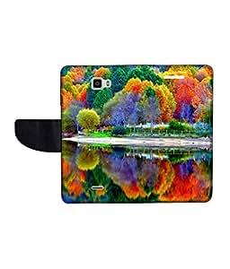 KolorEdge Printed Flip Cover For Coolpad Dazen 1 - Multicolor(50KeMLogo11313CoolpadDazen1)