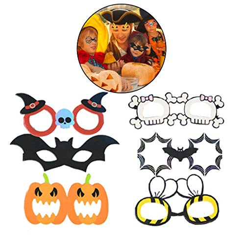 FunPa 6PCS Halloween Brille Party Gläser Kreativ Karikatur Lustige Kostüm Brille Für Kinder