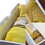 LED- Lichtband LED Stripe mit 30 warm-weißen 1m 3 Funktionen mit Bewegungsmelder selbstklebend magnetische Halterung