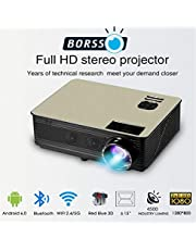 BORSSO Earth 82 Android 60 HD Projector with WiFi Bluetoot
