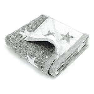 Serviette de toilette 50x100 cm 100% coton 480 g/m2 STARS Gris