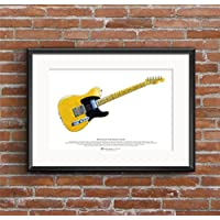 Keith Richards' Fender Telecaster Micawber chitarra ART POSTER A3 dimensione - Inoltre Pickup