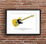 George Morgan Illustration Keith Richards' Fender Telecaster Micawber Gitarre Art Poster A3 Größe