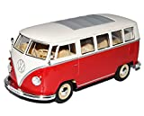 VW Volkswagen T1 Rot Weiss Samba Bully Bus 1950-1967 1/24 Welly Modell Auto